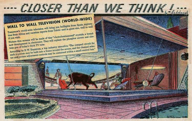Wall to wall television Mar 23 1958 - retro-futuristic space-age inventions