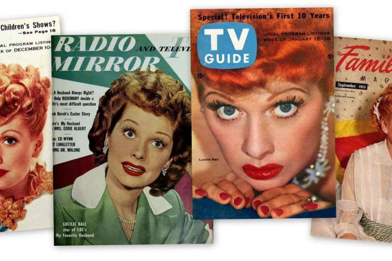 We loved Lucy Lucille Ball magazine covers from the '50s