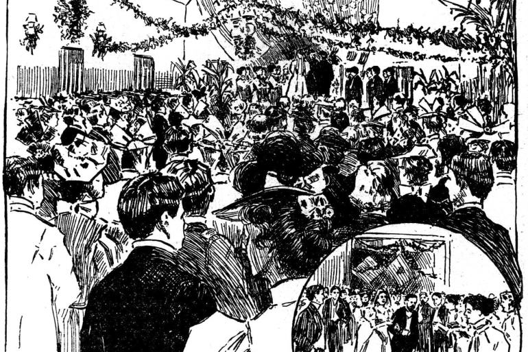 Wedding bells at San Francisco's Presidio (1896)