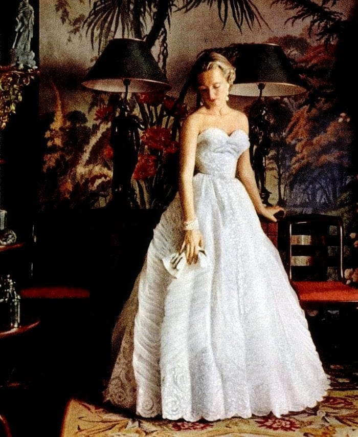 The belles of the ball gowns strut their stuff in vintage French ...