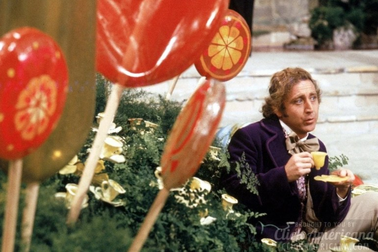 Willy Wonka Gene Wilder - Candy room