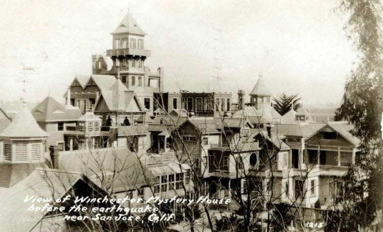 Winchester Mystery House antique postcard