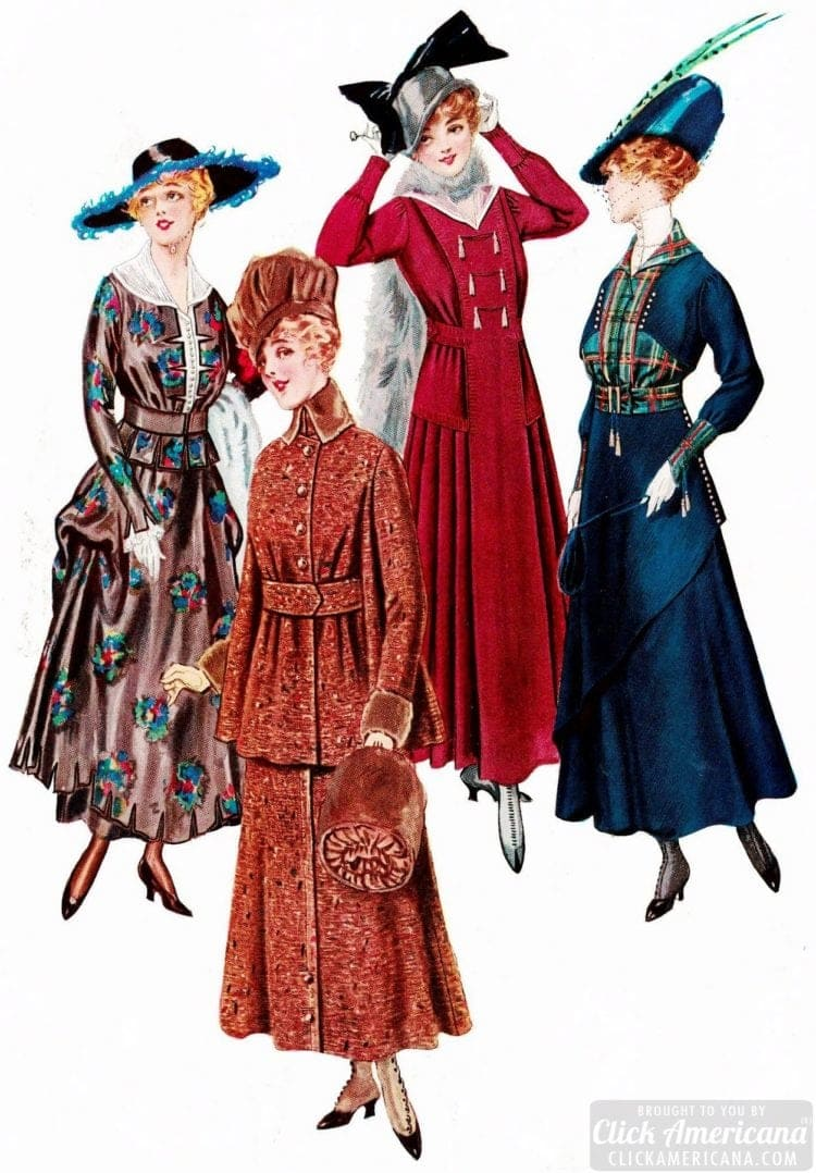 Women's hats - Fashion from 1915 - Delineator