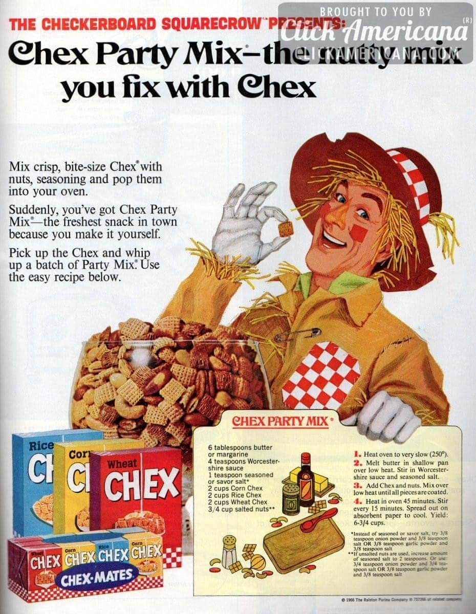 Whip up a batch of chex party mix 1966 click americana ccuart Gallery