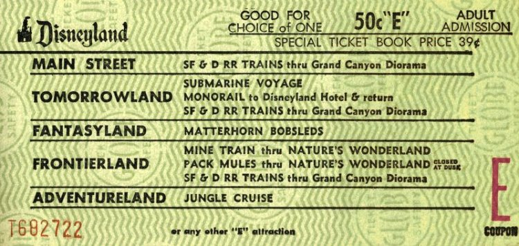 Disneyland tickets: