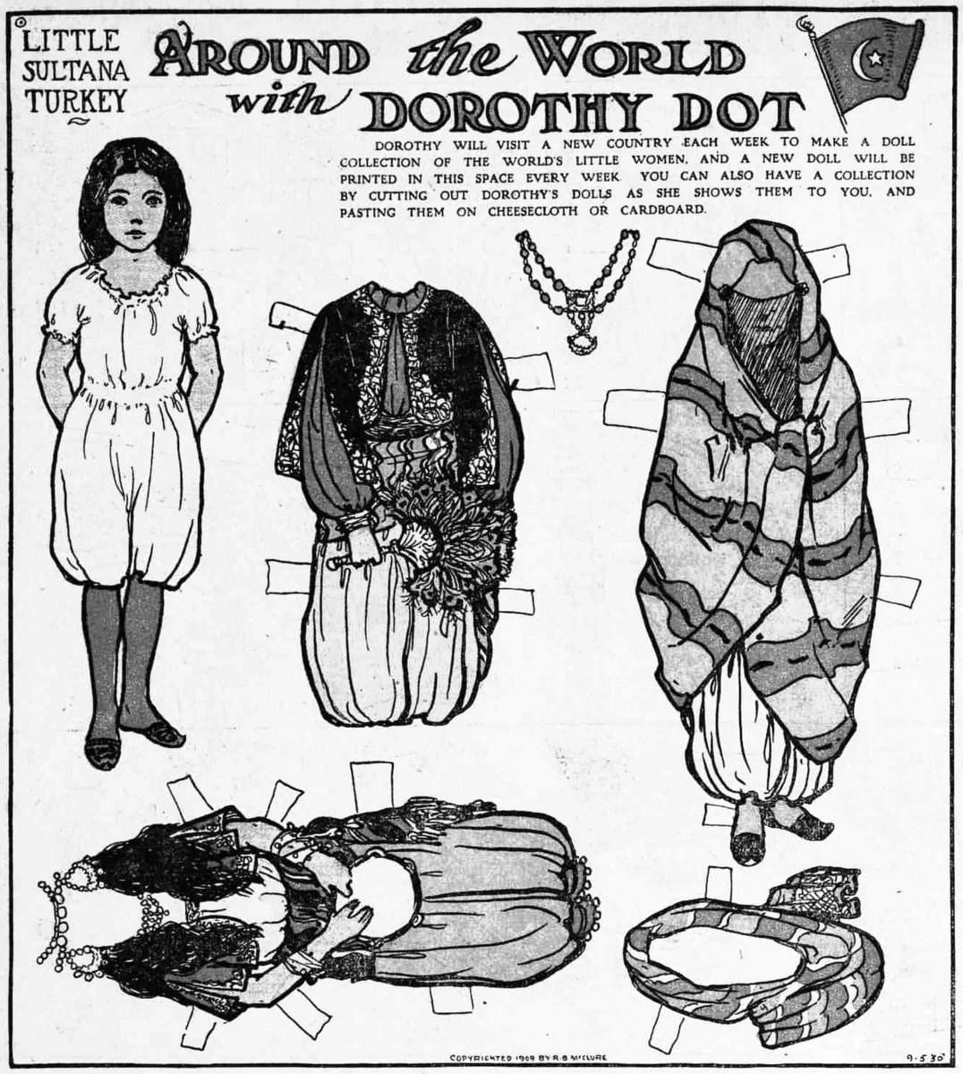 dorothy dot paper doll little sultana of turkey 1909 click 1980s Baby Dolls dorothy dot paper doll little sultana of turkey 1909 click americana