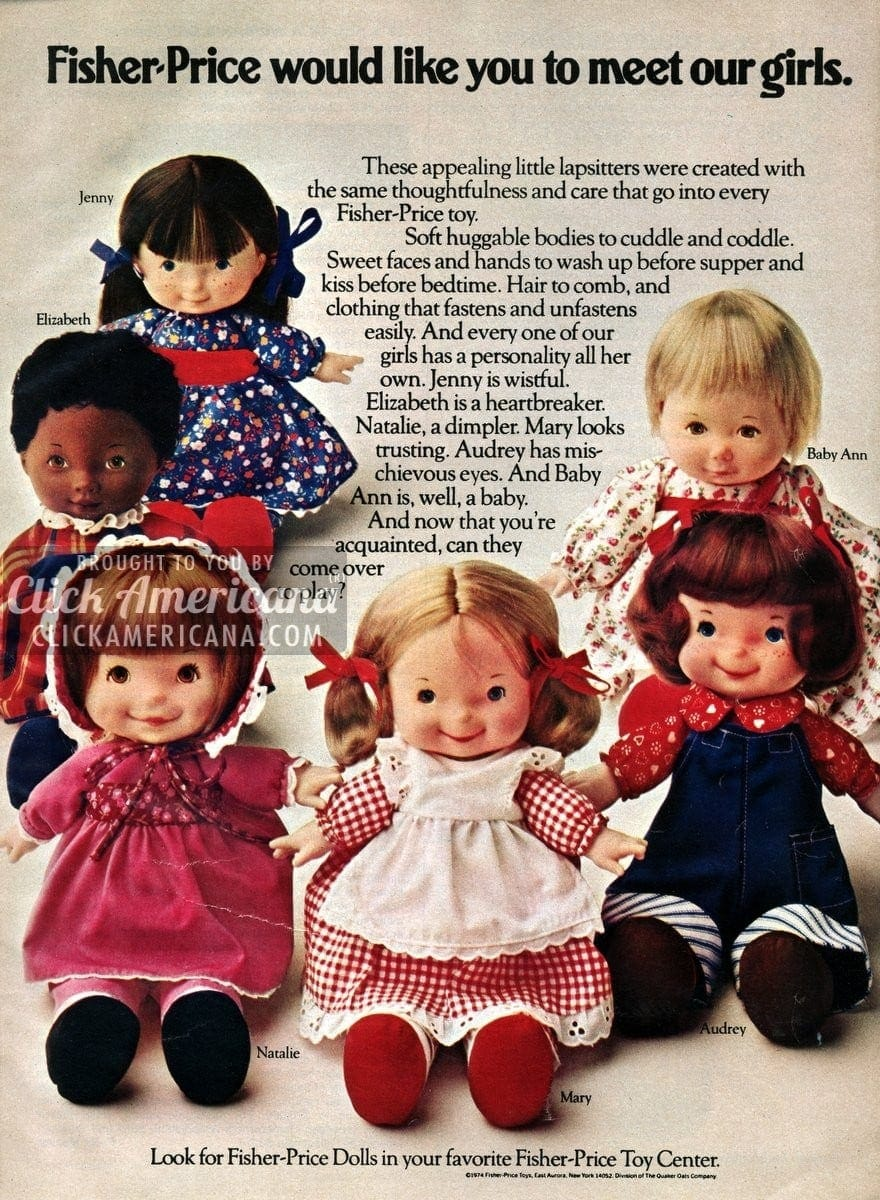 Fisher Price Would Like You To Meet Our Dolls 1974 Click Americana