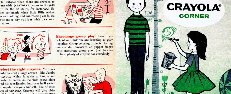 crafty growing fun with crayons 1957 1959 click americana