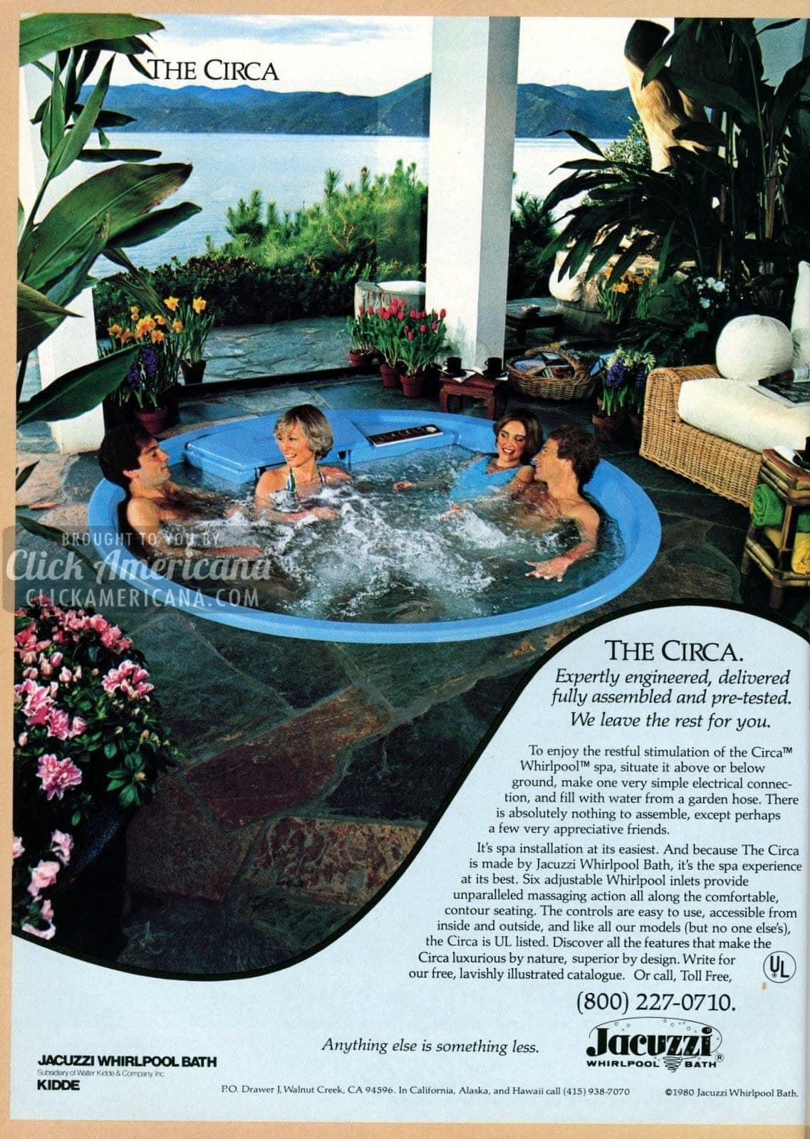 Backyard spa: Circa hot tub from Jacuzzi (1981) - Click Americana