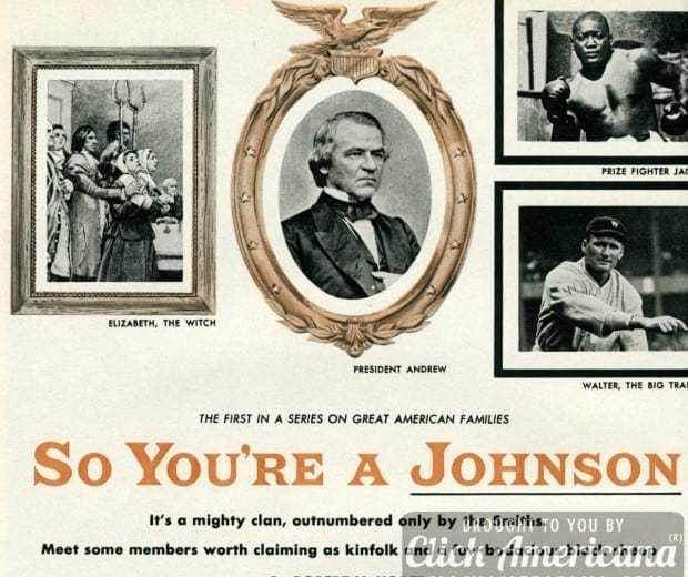 So your last name is Johnson... (1955) - Click Americana