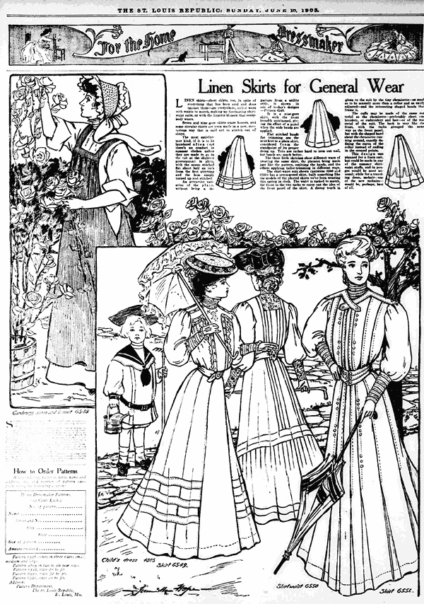 vintage articles and more in the summer category at click americana 1950s Picnic linen skirts for the summertime 1905