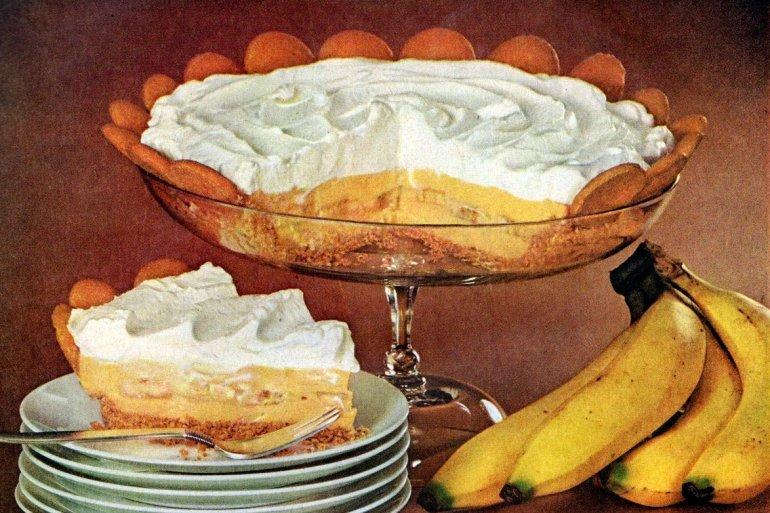 """Magic Crystals"" Banana cream pie (1956)"