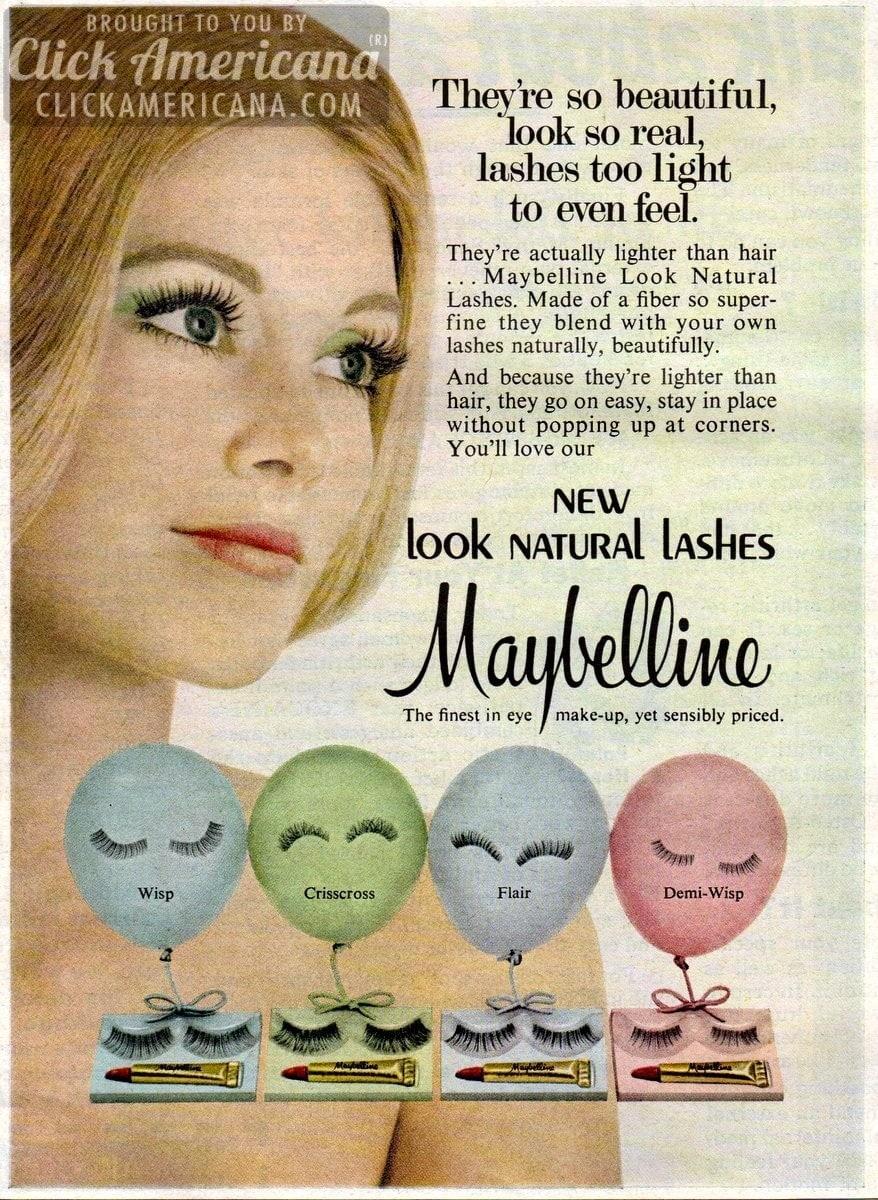 False Beauty New Eyelashes By Maybelline 1967 1972 Click