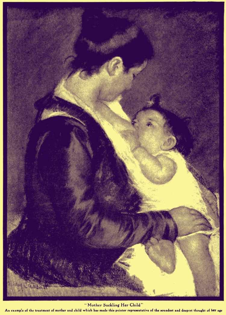 mom nursing baby 1915