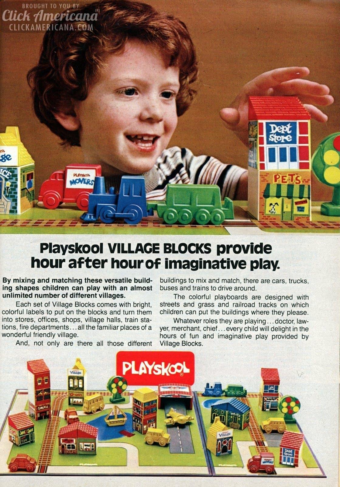 playskool toy sets  candy land kids  u0026 village blocks  1982