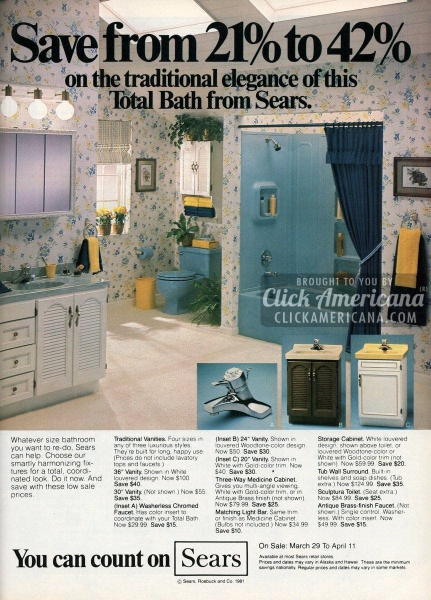 Remodel Your Bathroom With Sears Style 1981 1982 Click
