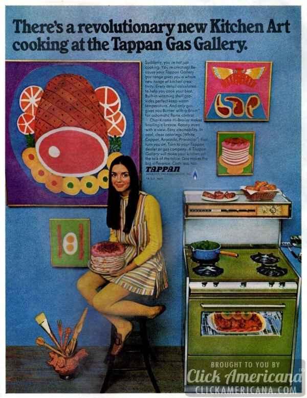 Vintage Tappan Gas Stoves Advertisements