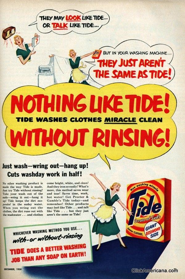vintage tide laundry detergent