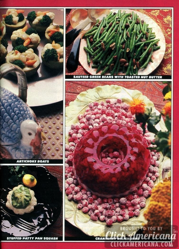Retro Thanksgiving side dishes from the '80s: Thanksgiving turkey team-ups