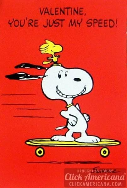 Vintage Valentine's Day card: Valentine, you're just my speed