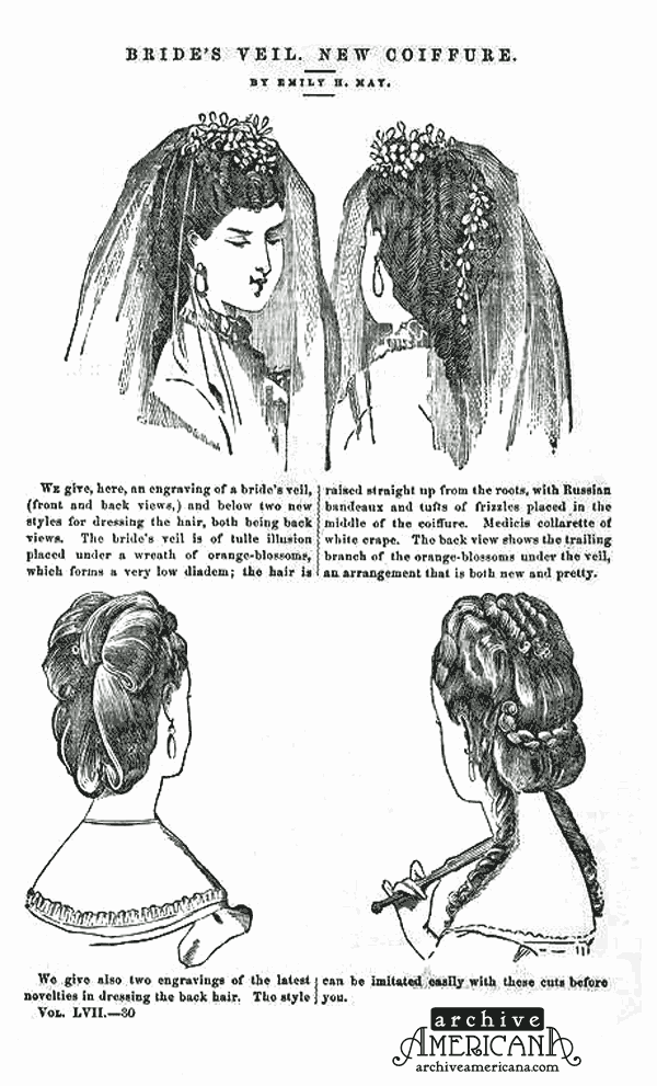 Victorian Bridal Hairstyles 1870 Click Americana