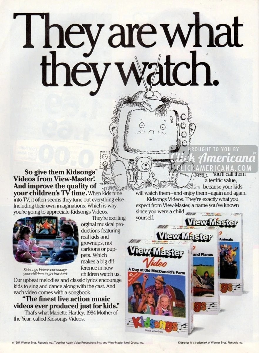 Kidsongs videos from View-Master (1987) - Click Americana