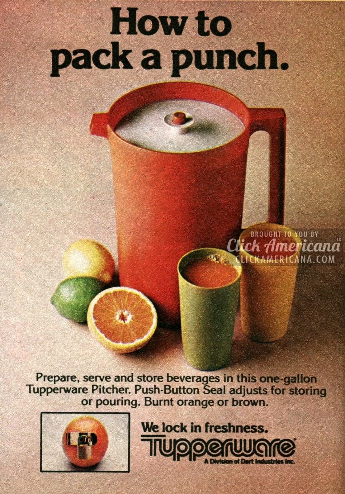 Tupperware Containers In Poppy Burnt Orange Amp Brown 1982