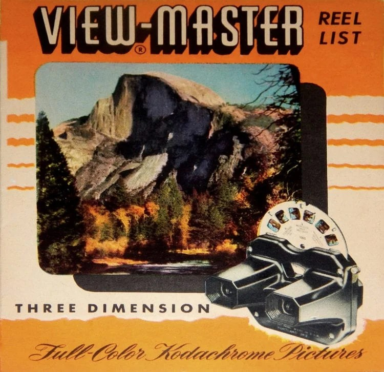 Vintage View-Master reels with nature scenes