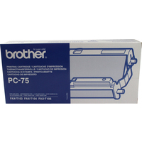 Brother PC 75 Fax Cartridge Ink Ribbon Film Black PC75 T104 T106-0