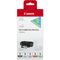 Canon PGI-9 Ink Cartridges Multi-Pack Bk/PC/PM/Rd/Gn 1033B011-0