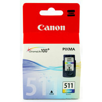Canon CL-511 Ink Cartridge Tri-Colour CL511 2972B001AA-0