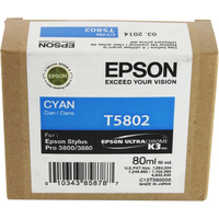 Epson T5802 Ink Cartridge Cyan C13T580200-0