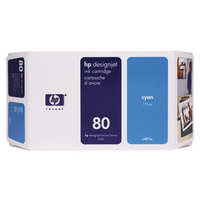 HP C4872A Ink Cartridge Cyan HPC4872A 80 175ml-0