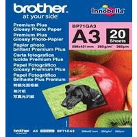 Brother Glossy Photo Paper A3 260gsm Pk20 BP71GA3-0