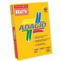 Adagio Card A4 160gsm Orange Pk250 AO2116-0