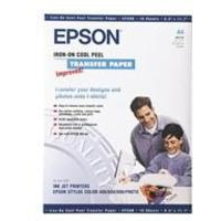Epson Cool Peel Iron-On Transfer Paper 124gsm Pk10 S041154 C13S041154-0