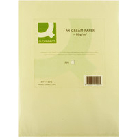 Q-Connect Coloured Copier Paper A4 80gsm Cream Pk500-0