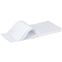 Q-Connect Listing Paper 11 inches x241mm 3-Part NCR Perforated Plain 60gsm Pk700-0