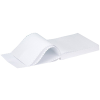 Q-Connect Listing Paper 11 inches x241mm 1-Part 60gsm Plain Micro-Perforated 60gsm Pk2000-0