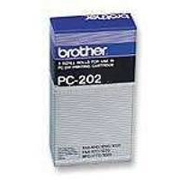 Brother PC 202RF Fax Cartridge Ink Ribbon Refill Black Pk2 PC202RF-0