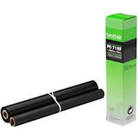 Brother PC 71RF Fax Cartridge Ink Ribbon Film Black PC71RF T74 T76 T78-0