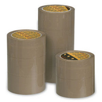 3M Scotch Packaging Tape Polypropylene 50mm x66m Buff Pk6 C5066SF6-0