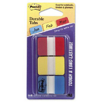3M Post-it Strong Index Pk66 Red Yellow Blue 686-RYB-0