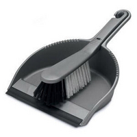 Addis Soft Dustpan and Brush Set Metallic-0