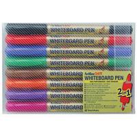Artline 2-in-1 Whiteboard Marker Fine/Superfine Assorted Pk8 EK-541T-WB-0