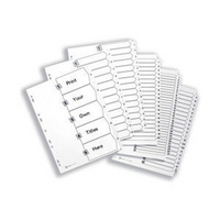 Avery Mylar Alpha Divider A4 Bright White A-Z 26-Part 05231061 (FPC)-0