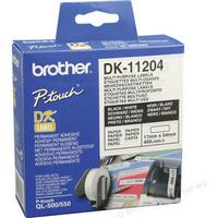 Brother QL Labels DK-11204 Multi-Purpose Labels DK11204 Pk3-0