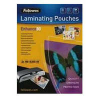 Fellowes Laminating Pouch A4 Matt 160micron Enhance 5452101-0