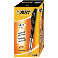 Bic Clic Retractable Ball Point Pen Medium Black 901256-0
