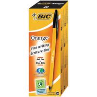 Bic Orange Fine Ball Point Pen Black Pk20 1199110114-0